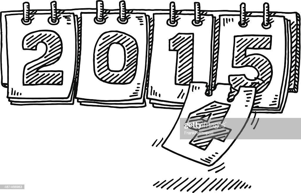 Calendar Drawing Pictures : Jahr kalender veränderung zeichnung vektorgrafik