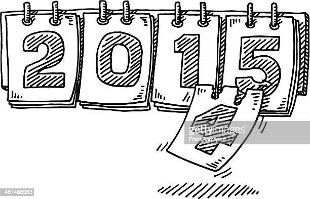 Jahr 2015 Kalender Veränderung Zeichnung