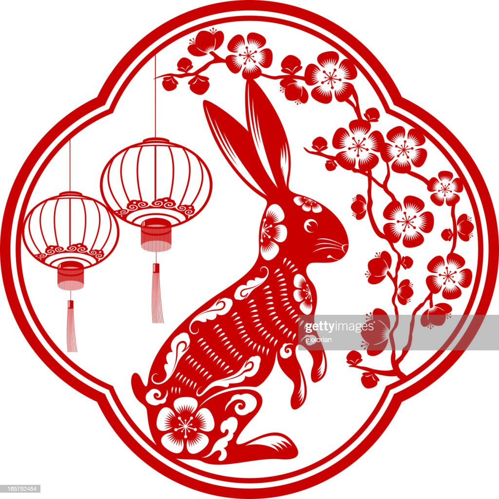 year of the rabbit vector art getty images. Black Bedroom Furniture Sets. Home Design Ideas