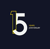 anniversary elegance gold logo. linked number on dark background