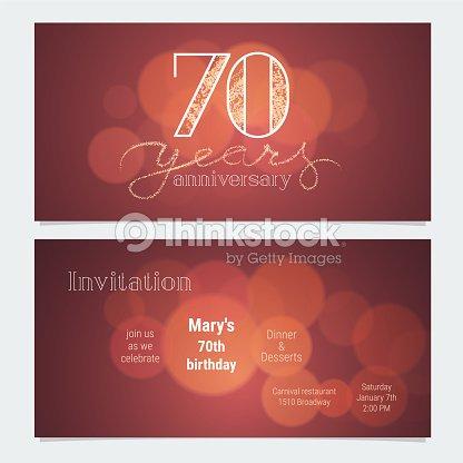 70 years anniversary invitation vector arte vetorial thinkstock 70 years anniversary invitation vector arte vetorial stopboris Image collections