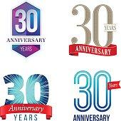 A Set of Symbols Representing a Thirtieth Anniversary/Jubilee Celebration