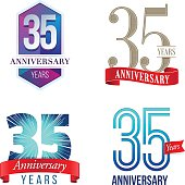 A Set of Symbols Representing a Thirty-Fifth Anniversary/Jubilee Celebration