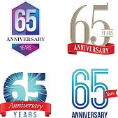 A Set of Symbols Representing a Sixty-Fifth Anniversary/Jubilee Celebration