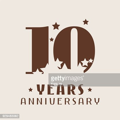 10 years anniversary vector icon : stock vector