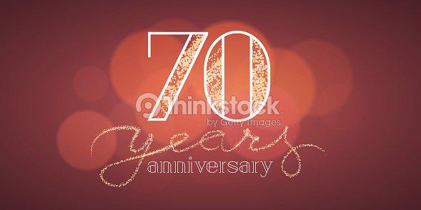 70 years anniversary vector illustration banner flyer icon symbol