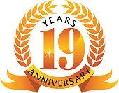 19 Years Ribbon Anniversary