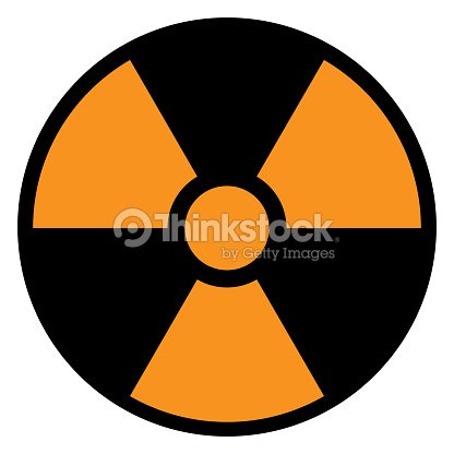Yellow And Black Ionizing Radiation Sign In Circle Vector Icon