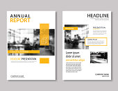 Yellow annual report brochure template A4 size design. Can be use to leaflet, brochure, layout design, portfolio, magazine,poster, corporate abstract presentation background.