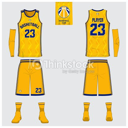 yellow basketball jersey or sport uniform template design for