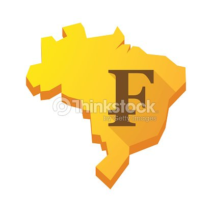 Yellow Brazil Map With A Swiss Franc Sign Vector Art Thinkstock