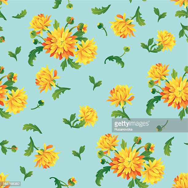 Amarillo Chrysanthemums (patrón