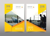 Yellow design on background.Brochure template layout,cover design,annual report,magazine,leaflet,presentation background,flyer design.and booklet in A4 with Vector Illustration.