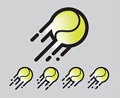 street basket ball in motion logo / icon vector line and color blended art illustartion clip art