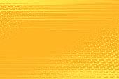 Yellow pop art background in vector