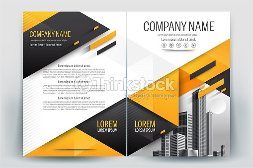Real Estate Book Cover Design : Yellow poster brochure flyer design layout background