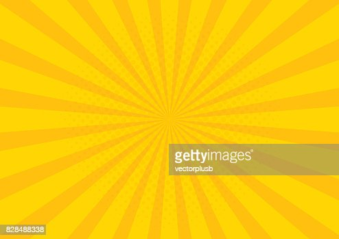 Yellow Retro vintage style background with sun rays vector illustration : Arte vetorial
