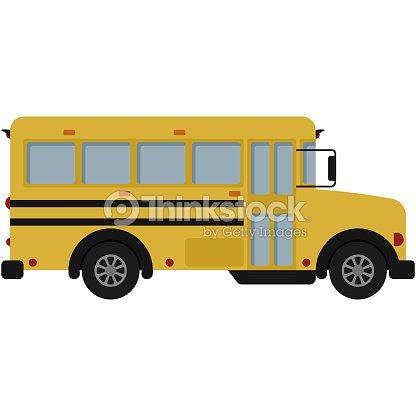 yellow school bus illustration arte vetorial thinkstock