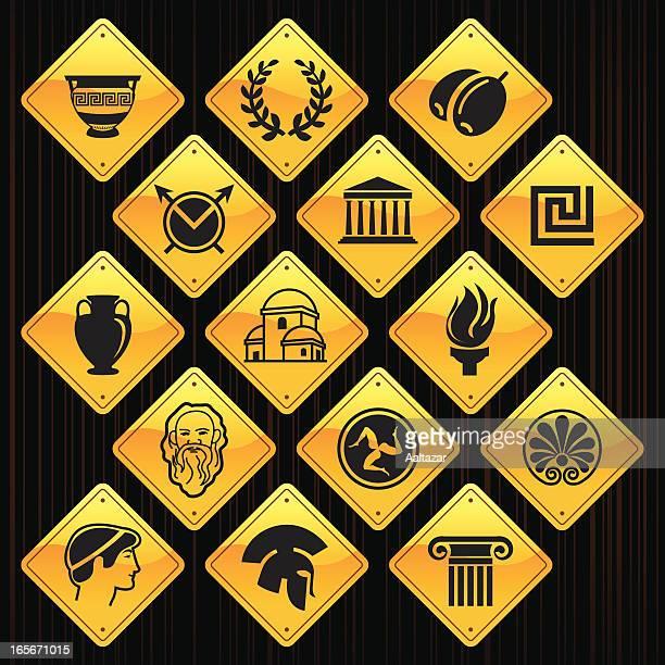 Gelbe Schilder-Griechenland
