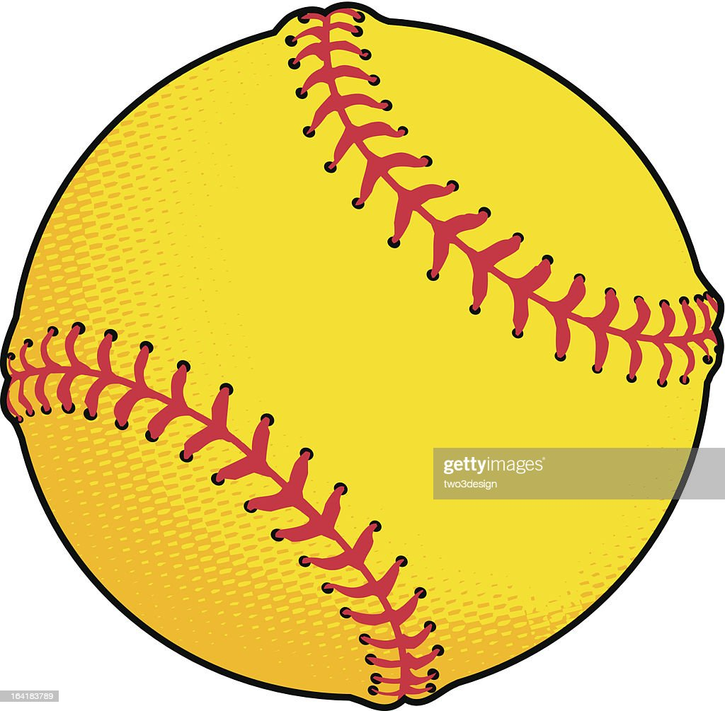 yellow softball vector art thinkstock rh thinkstockphotos com vector softball clipart women's softball vector art