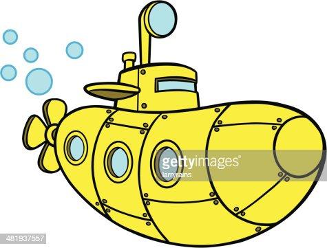 желтая подводная верейка нарисовать