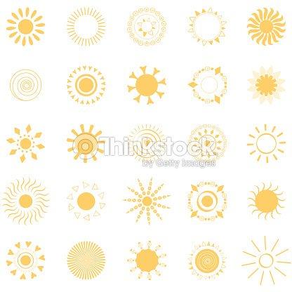Yellow Sun Symbols Like Mandala Vector Art Thinkstock