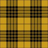 Yellow and black seamless traditional tartan plaid pattern design.