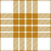 Yellow and white seamless traditional tartan plaid pattern design.