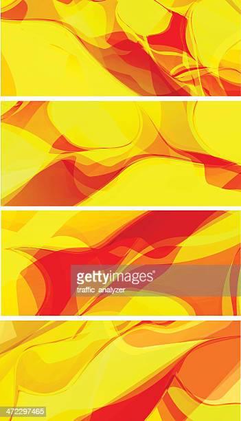 Yellow/orange banners
