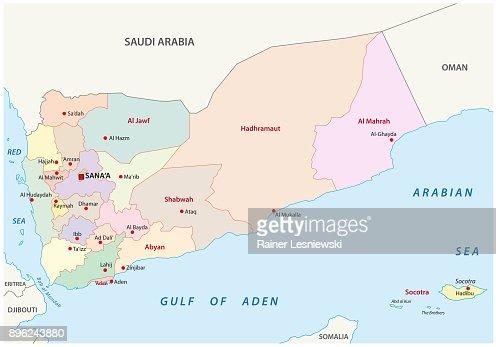 Political Map Of Yemen.Yemen Administrative And Political Map Vector Art Thinkstock