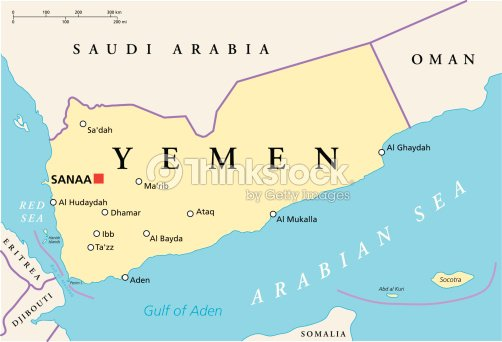 Yemen Political Map Vector Art | Thinkstock