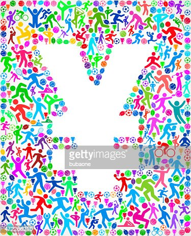 sports motif designs egypt fitness sports and exercise pattern vector background vector