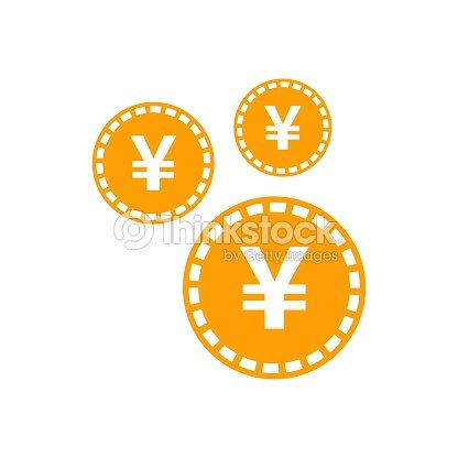 Yen Yuan Money Currency Vector Icon In Flat Style Yen Coin Symbol