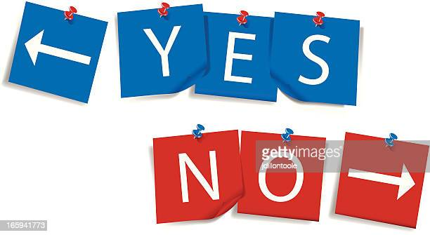 Yes and No | Notes with Thumbtacks