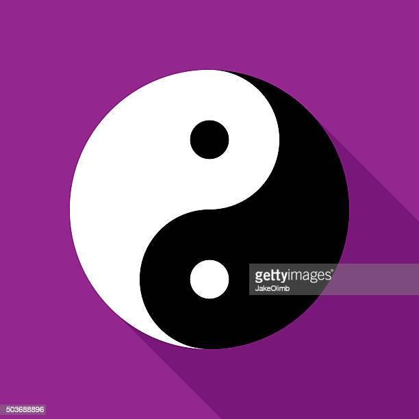 Yin and Yang Icon Flat
