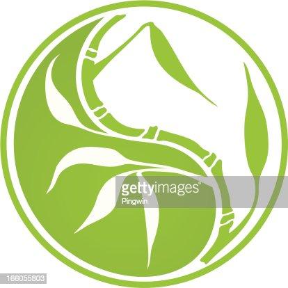 Yin Yang Bambus Vektorgrafik Getty Images