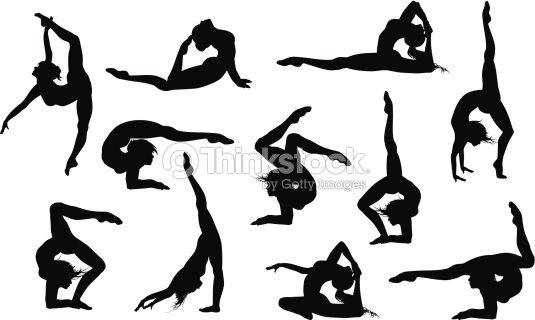 Silhouettes De Yoga Asana Clipart Vectoriel Thinkstock