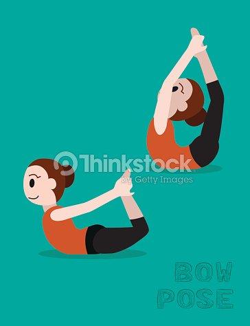 Yoga Illustration De Vecteur De Dessin Anime Posture En Arc Clipart