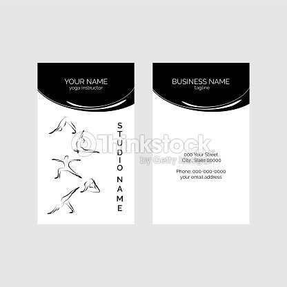 Yoga business card arte vetorial thinkstock yoga business card arte vetorial reheart Image collections