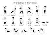 Yoga Posture EPS10 FIle Format