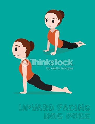 Yoga Posture Du Chien Postures Illustration De Vecteur De Dessin
