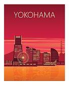 Yokohama city poster