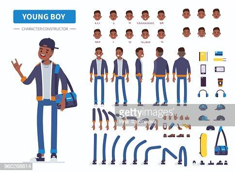 young boy : stock vector