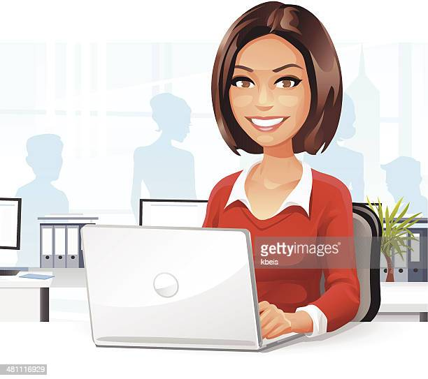 Jeune femme dans le bureau