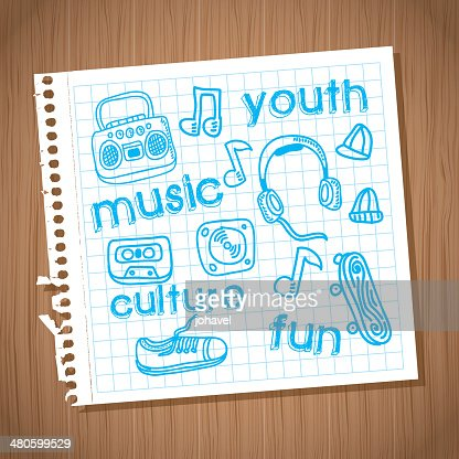 youth culture : Vector Art
