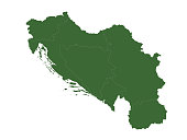 vector illustration of Yugoslavia map
