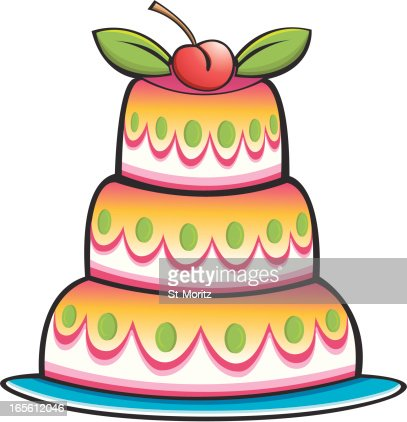 Yummy Colorful Cake Vector Art Getty Images