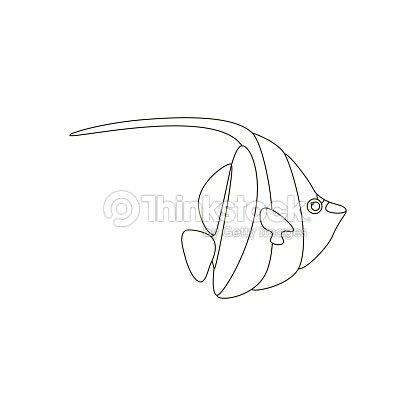 Zanclus Cornutus De Peces Para Colorear Arte vectorial   Thinkstock