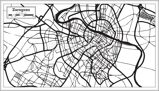 Zaragoza Spain City Map In Retro Style Outline Map Vector Art ... on tarraco spain map, barcelona spain map, tarragona spain map, aragon spain map, paris spain map, rio ebro spain map, alquezar spain map, jerez de la frontera spain map, marbella malaga spain map, madrid spain map, andujar spain map, mieres spain map, ponferrada spain map, southern spain map, sagunto spain map, huesca spain map, zarautz spain map, teguise spain map, bilbao spain map, zamora spain map,
