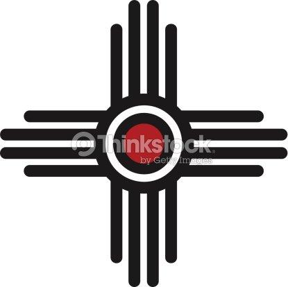 Zia Sun Pueblo New Mexico Vector Art Thinkstock